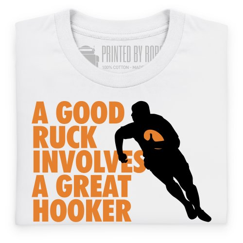 Good Ruck T-Shirt, Herren Wei