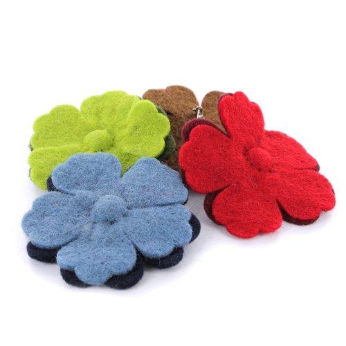 Preisvergleich Produktbild La Fourmi 80 mm 4-tlg. sortiert Wolle Blumen
