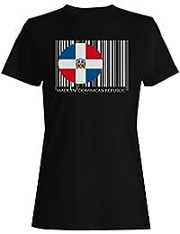 Hecho en república dominicana divertido mundo novedad camiseta de las mujeres tt96f