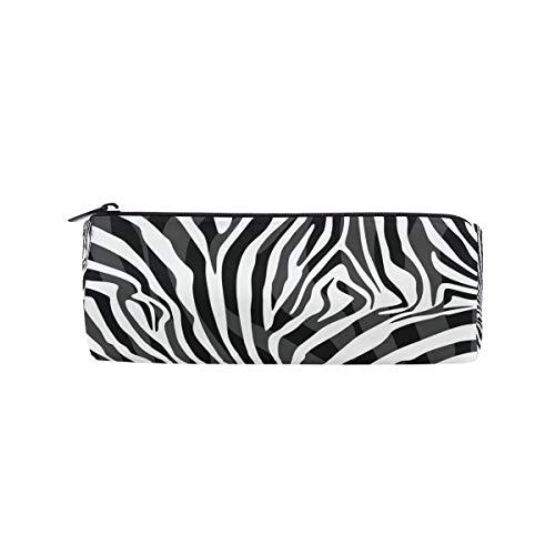 BIGJOKE Federmäppchen mit abstraktem Tiermuster, Zebra-Muster, Federtasche, Reißverschluss, Tasche für Make-up-Pinsel, für Mädchen, Kinder, Schule, Studenten, Schreibwaren, Bürobedarf -