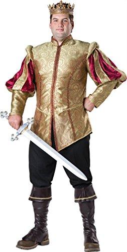 König Kostüm Renaissance - Renaissance König Kostüm für Herren in großer Größe