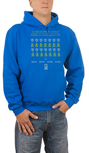 puzenpullover Bad Wolf, Blau (Royal 09), XXX-Large (Big Bad Wolf-hund Halloween-kostüm)