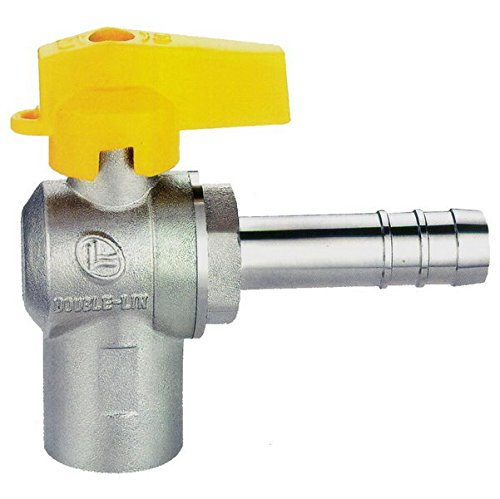 rubinetto valvola gas 1/2'' f portagomma tubo