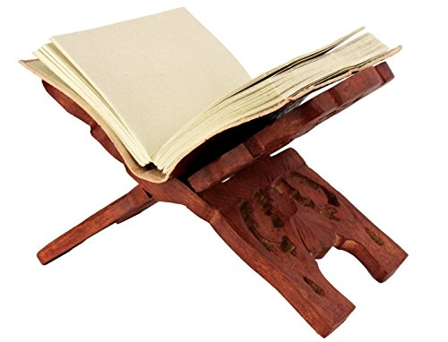 Store Indya Hand Carved Folding Religious Book Stand Holder with Intricate Carvings  available at amazon for Rs.599