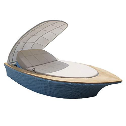 OUTLIV. Loungemöbel Outdoor Sonneninsel Schiff 290x159cm Geflecht/Teak Gartenlounge Outdoor Lounge Garten Terrasse Balkon