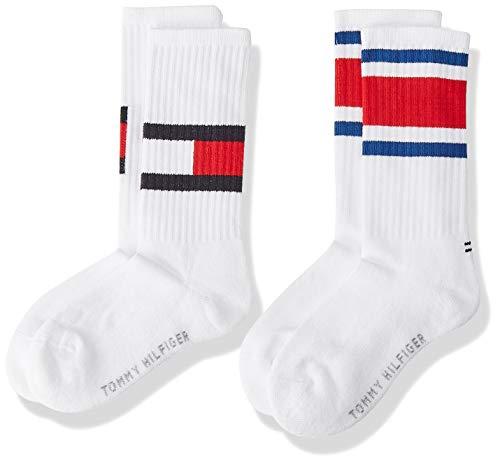 Tommy Hilfiger Jungen TH KIDS FLAG 2P Socken, Weiß (White 300), 27-30 (Herstellergröße: 27/30) (erPack 2