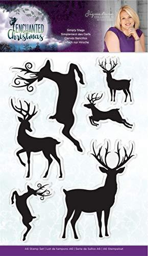 Crafter's Companion Sara Signature Enchanted Christmas-Acryl-Stempel, Motiv: Hirsche, mehrfarbig, Einheitsgröße -