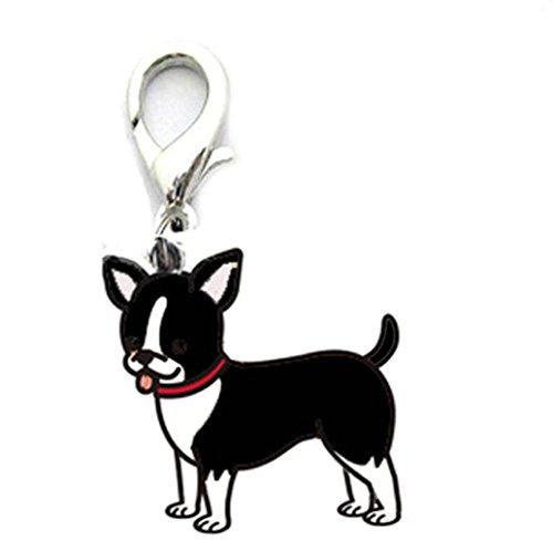 Hmeng Hunde Halskette, Niedlich Haustier Metall Tag Halsband Hundeanhänger Kettenanhänger Halskette Anhänger Halsbandschmuck Zubehör (25mm, A)