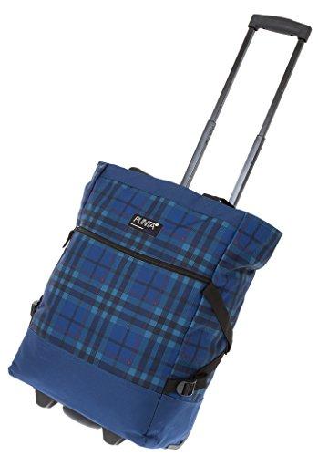 2er SET: PUNTA WHEEL Einkaufstrolley Einkaufsroller + Faltschopper [AUSWAHL] Blue Plaid 10008-5000