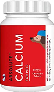 Drools Absolute Calcium Tablet- Dog Supplement, 110 Pcs