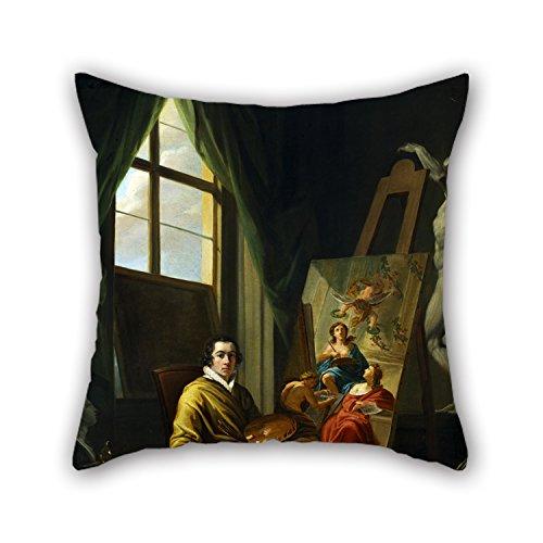 uloveme-olgemalde-abel-joseph-selbstportrat-im-studio-kissen-508-x-508-cm-50-von-50-cm-beste-wahl-fu