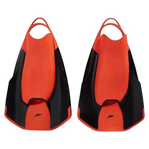 Fastskin Erwachsene Kick Fin Equipment, Black/Siren Red, 5-6