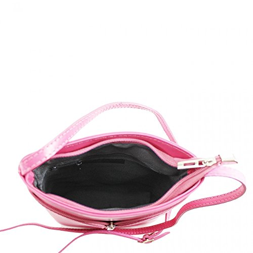 Da donna Fashion Designer piccola borsa a tracolla in pelle italiana di qualità cwv0026 CAMEL H20cm x W18cm x D7cm
