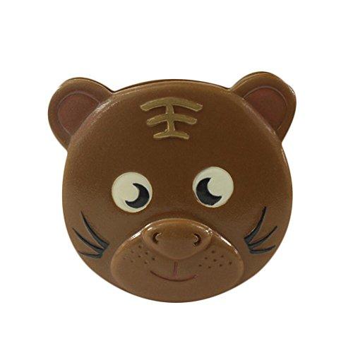 CHENG Tiger Laubkasten Baby Lanugo Geschenk Kind Dental Souvenir Sammelbox,Brown
