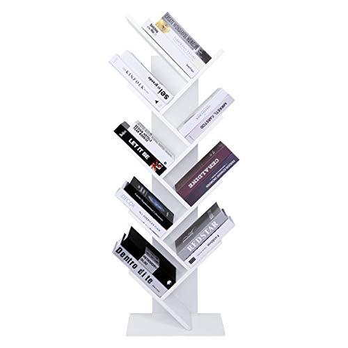 LEMAIJIAJU Bücherregal Würfelregal Bücherschrank Holzregal Aufbewahrungsregal Universal Regal (50 x 23.5 x 142.5 cm) - Bibliothek Bücherregal
