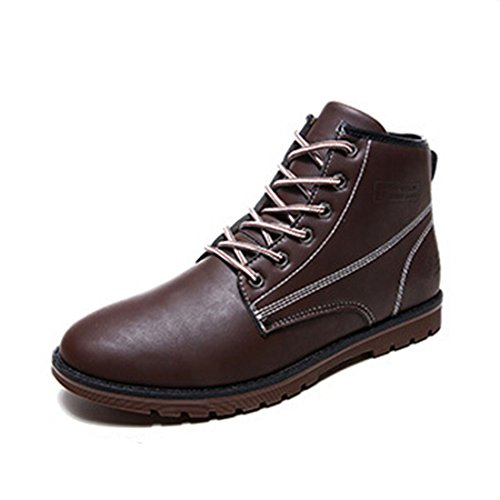 Men's High Atmospheric Fashion Leather Shoes brown