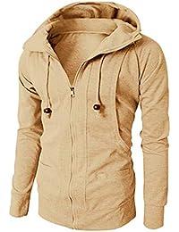 5840b71751b795 Sweat à Capuche Zippé Homme Sweat Shirt a Capuche Sport Hoodies Sweatshirt  Pull Zippé Veste Sweat
