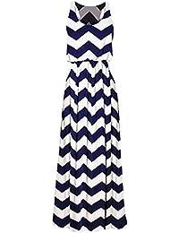 Zarlena Damen Kleid Maxikleid Sommerkleid Cocktailkleid Strand Elegant