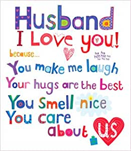 Husband Birthday Card I Love You Amazoncouk Kitchen
