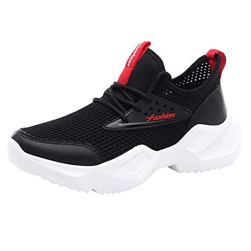 Air Jordan 3 Cool Grey (CUTUDE Damen Mode Laufschuhe Turnschuhe Bequem Mesh Ultra-Leicht Atmungsaktiv Gym Fitness Sportschuhe Sneaker Schnürer Straßenlaufschuhe (Schwarz, 38 EU))