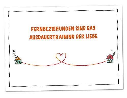 XL Karte Fernbeziehung Ausdauertraining der Liebe (DIN A5)