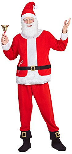 Santa Claus Boy's Costume Father Christmas Nativity Fancy Dress (XL)