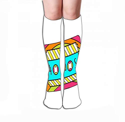 Xunulyn Hohe Socken Women Girls Novelty Funny Crew Socks 19.7