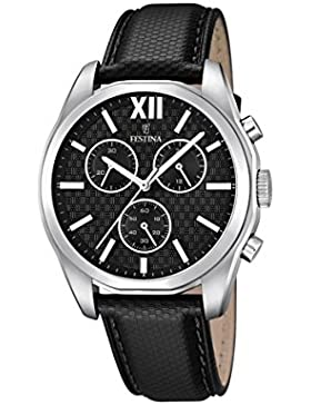 Festina Herren-Armbanduhr Chronograph Quarz Leder F16860/1