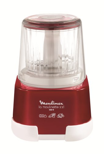 Moulinex 1,2,3 XXL Picadora, capacidad de 550 ml, 1000 W, Rojo Rubí