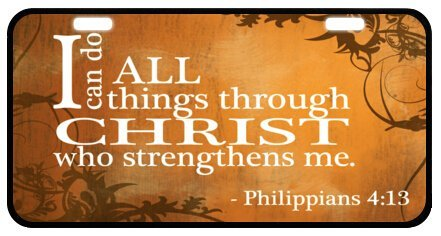 Christian Bible Verse Jesus Quotes Decorative Front Plate,Car Plate,Car Tag,License Plate Frame 6.1
