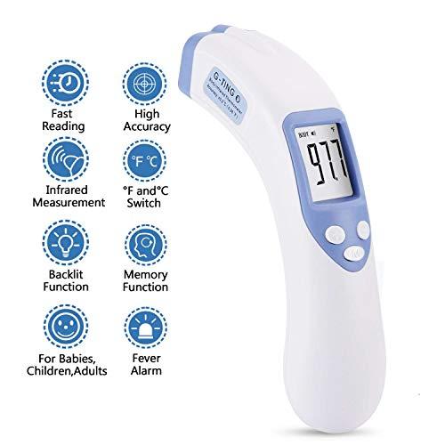 Thermomètre frontal, G-ting sans contact Thermomètre infrarouge digital Clinique Instant Professional Fever scanner de température infrarouge pour bébé, tout-petits, maison avec Bilingue Celsius Fahrenheit