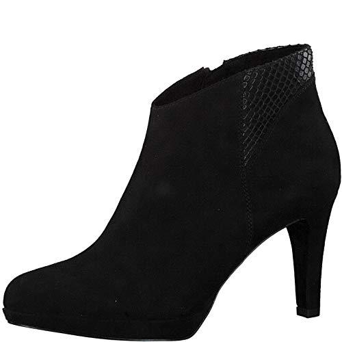 s.Oliver Damen Stiefeletten 25342-23, Frauen Ankle Boots, Stiefel halbstiefel knöchelhoch reißverschluss Damen Frauen,Black Snake,38 EU / 5 UK