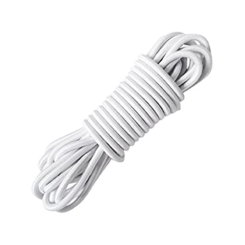 Sharplace 5 Meters x 4mm Heavy Duty Elastic Bungee Rope Shock Cord Suitcase Luggage Roof Rack Tie Down for Securing Boat/Kayak Covers - 9 Colors Available -