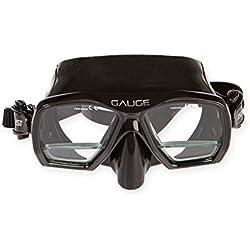 Tauchsportvertretung Masque de plongée « Gauge » avec Verres Plus intégrés + 1,75, Noir