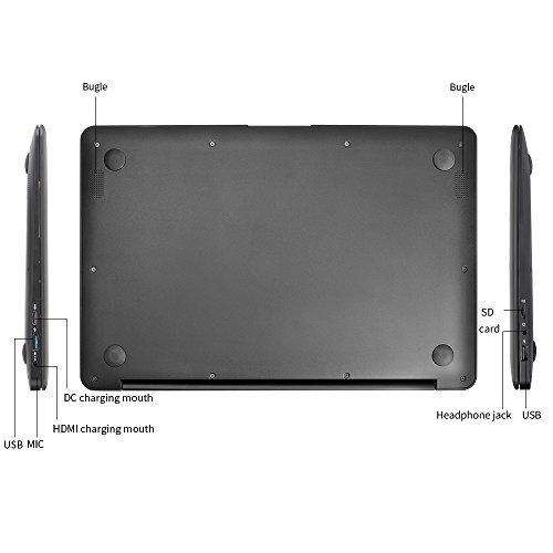 YUNTAB Z140C laptop Windows 10 Ultra slim Tablet 14 Zoll Intel Z8350 Quad-core 1.92 GHz 2 GB RAM 32 GB - 1366*768 Kamera 2 Mps Bluetooth 4.0 HDMI Mit Tastatur Holster einer Schwarz - 2
