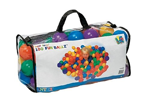 100 Intex Multi Coloured Fun Ballz for Ball Ponds or Play Pits