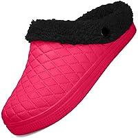 BIGU Mules Clogs Slip On Garden Shoes Fur Lined Indoor Outdoor Walking Warm Winter Slipper House Shoes