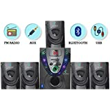 I Kall IK-666 5.1 Bluetooth Multimedia Speaker System with FM/AUX/USB Support and Remote Control with 1 Year Manufacture Warranty (Black)