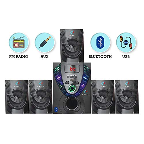I Kall IK666 Bluetooth 5.1 Channel Multi Media Home Theater System with Remote, FM Radio, Bluetooth, 3.5 mm AUX Support & USB Connectivity with Digital Display Panel
