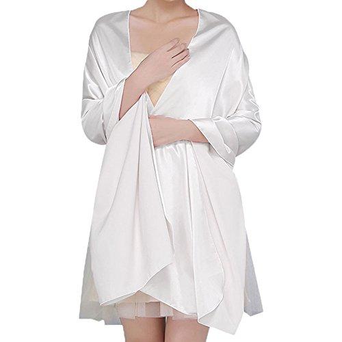 Dame Stola, QIJOVO Damenschal Satin Stola Brautjungfer Schal für Kleider Abendkleid