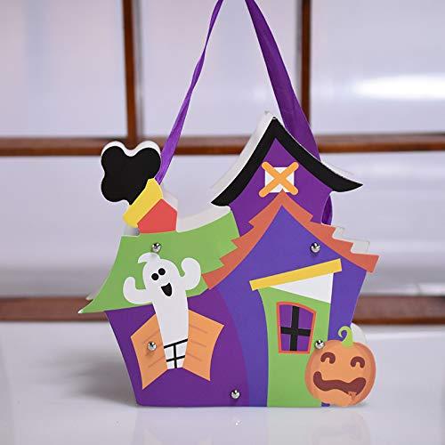 MAOYYM2 Halloween DIY Kinder Papiertüte Geschenkbeutel Süßigkeitstasche Kürbis Dekoration Kreative Hausgemachte Requisiten (Für Hausgemachte Party-dekoration Halloween)