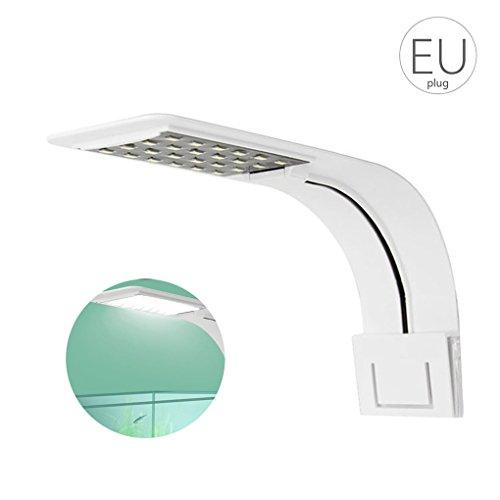 Meisijia 10W Super Slim Aquarium 5730 LED-Licht Wasserpflanze Beleuchtung Clip-on-Lampe Pflanzen wachsen Licht white & weiße Helligkeit (Wachsen Licht-lampe)