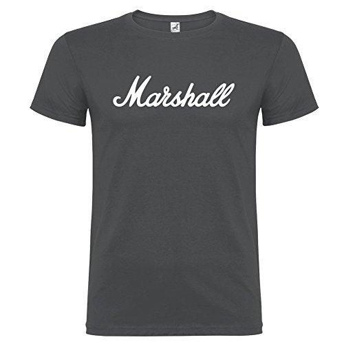 T-shirt manica corta Unisex Marshall By Bikerella PIOMBO OSCURO/BIANCO