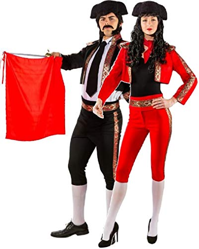 Couples Ladies AND Mens Deluxe Matador Spanish Bull Fighter International Around The World Carnival Fancy Dress Costumes Outfits (UK 14-16 (EU 42/44) - Medium (EU ()