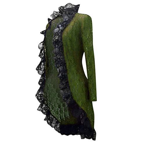 DIASTR Karneval Halloween Cosplay Party Ballkleid Damen Mode Langarm Mittelalterliches Cosplay Kleid Steampunk Mantel Jacke für Damen Tops Outwear Pullover Sweatshirt