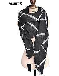 Vlunt Damen Oversized Herbst Winter Schal klassische Kariert Schal lange weich Wraps grosse Schal
