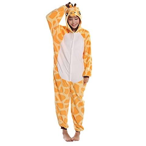Pyjama Grenouillere Girafe - Wenyujh Unisexe Pyjama Combinaison Animal Girafe Mignon