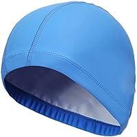 Morza Swim cap Elastic PU Impermeabile Proteggere Nuoto Cappello della Protezione  Orecchie Capelli Lunghi Sport Swim 1983b573b219