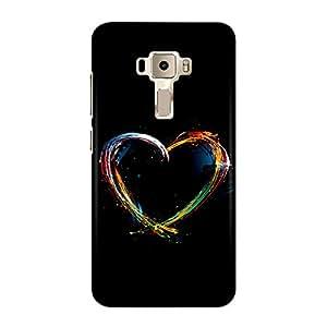 DASM United Asus Zenfone 3 (5.5inch) Premium Back Case Cover - Color Splash Heart