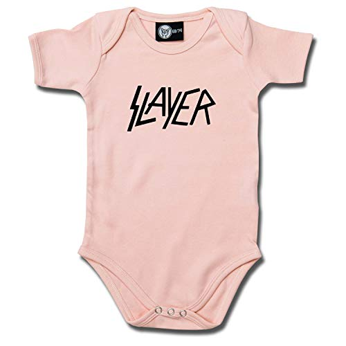 Baby Rocker Kleidung (Slayer (Logo): Baby Body (62, rosa))